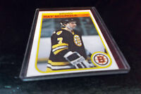 1982 O-Pee-Chee #7 RAY BOURQUE ~ Defense ~ Boston Bruins Hockey Card