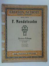 harmonium organ MENDELSSOHN arien album schott / stapf