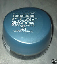 Maybelline Dream Mousse Eye Shadow in * 55 TURQUOISE BREEZE * Brand New Sealed