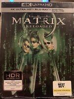 MATRIX RELOADED New 4K Ultra HD + Blu-ray + Digital STEELBOOK Exclusive UHD
