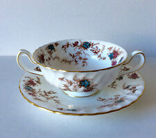MINTON ANCESTRAL S376 CREAM SOUP COUPE / CUPS AND SAUCERS MORE AVAILABLE