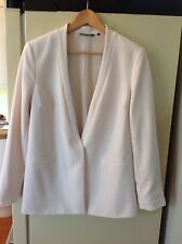 NEW LOOK WOMENS BLAZER JACKET UK 14 CREAM PRESSTUD FASTEN