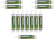 Acoustical Smoke & Sound Caulk Sealant (12- 28 oz Tubes) Wall Partition Systems