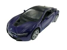 """5"""" Kinsmart BMW i8 2 Door Coupe Diecast Model Toy Car Pull Action 1:36 Purple"""