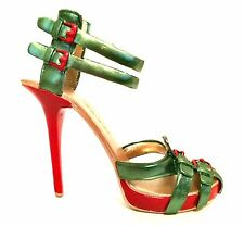Raine Just The Right Shoe Mistletoe 70094 Red Green Miniature Retired 2012