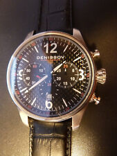 NEW! Denissov BARRACUDA Mechanical Chronograph Watch Poljot 31681 Russian 47mm