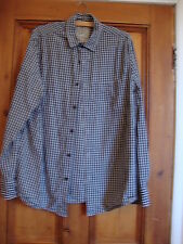 EASY.  BLUE CHECK COTTON SHIRT.  SIZE LARGE.