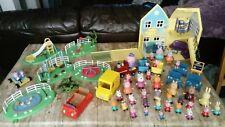Peppa Pig Bundle-House Train école parcs voiture 35+ figures Van Moon Buggy