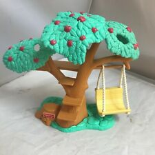 1997 Vintage Fisher Price Loving Family Apple Tree TREEHOUSE with SWING Rare EUC