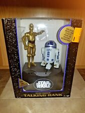 NEW SEALED Star Wars Deluxe Electronic C3PO & R2D2  Talking Bank 1995 Vintage