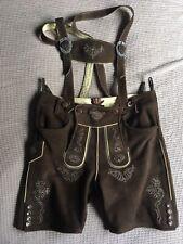 Trachten Lederhose Almsach kurz sehr weiches Leder Gr.52 NP 299€ neuwertig
