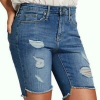 NEW With Tags Universal Thread Womens 4 27R High Rise Bermuda Jean Shorts