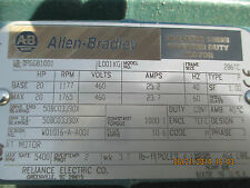 ALLEN BRADLEY 1329R  DPGG 81001 20 HP INVERTER DUTY XT MOTOR / OPTICAL ENCODER