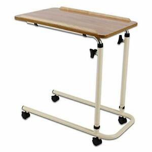 Performance Health Overbed Table with Wheels, Laptop Desk with Wheels, Fully