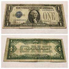 VINTAGE 1928-A ONE DOLLAR $1 SILVER CERTIFICATE BILL FUNNYBACK BLUE WASHINGTON