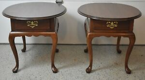 Pair of Harden Solid Cherry End Tables Nightstands