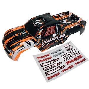 Traxxas Stampede - Orange - BodyShell - Body Shell - Decals - Genuine Part 3648