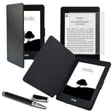 Tasche Hülle für Kindle Paperwhite Cover Bookstyle Case Wake/Sleep Pen schwarz