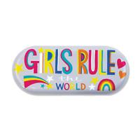 Rachel Ellen Girls Rule! Girls Glasses Case - Girls Birthday Gift Idea