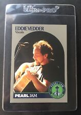 EDDIE VEDDER PEARL JAM OFFICIAL 2018 SEATTLE THE HOME SHOWS PJ TRADING CARD