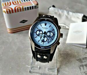 Fossil Herrenuhr Uhr Armbanduhr Chronograph Edelstahl Coachman CH2564