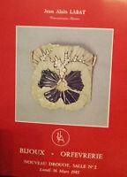 1981 Catalogue Di Vendita Illustre Drouot Gioielli Orafo