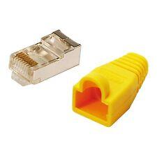 LogiLink® Modularstecker CAT5e mit Knickschutzhülle gelb 100 Stück MP0015