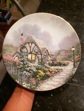 Knowles Collector plates Thomas Kinkade's Chandler's Cottage 1991 Plate #18,528A