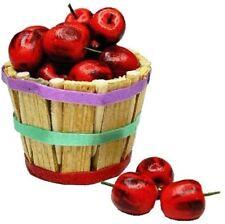 Dollhouse Miniature Bushel Basket + 24 Red Apples - 1:12 Scale
