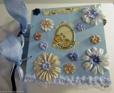 Vintage Style Baby Boy Premade Scrapbook Album, 22 Pages