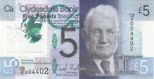 Billet banque ECOSSE SCOTLAND CLYDESDALE BANK 5 £ 2015 SIR ARROL NEUF UNC NEW