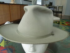 RARE Vintage 60's RESISTOL Open ROAD style GREY Western FEDORA Hat LARGE! 7 1/4