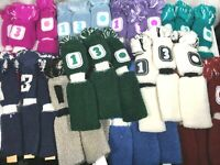 """Set of 3 Knit Golf Club Head Covers 11"""" Vintage Pom-Pom Style FAST FREE DELIVERY"""