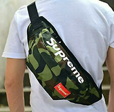Supreme Mass Army Green Camo Waist Sling Shoulder Fanny Tactile Bag Authentic