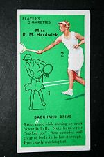 Tennis   Hardwick    Technique Tips  Original Vintage  1930's Action Card