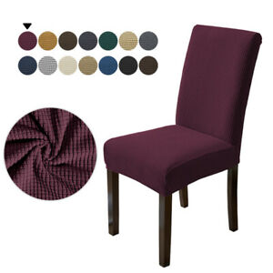 1/4/6 Pcs Jacquard Plain Chair Cover Slipcover Chair Protectors Dining Covers