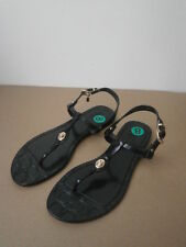 Coach Pier Shiny Jelly Womens Size 8 Black Open Toe Thongs Sandals Shoes No Box