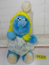 VINTAGE SMURF SMURFETTE PLUSH 1981 WALLACE & BERRY CO. KOREA SHREDDED CLIPPINGS