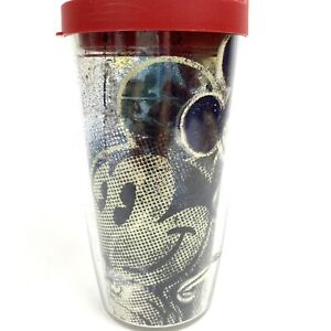 Tervis Disney Mickey Mouse Name Pattern Wrap Tumbler Cup with Travel Lid 16 Oz