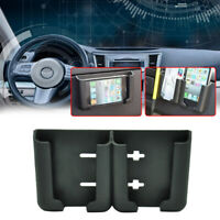 Auto Car Card Phone Holder Stand Cradle Console Bracket Box Black Accessories