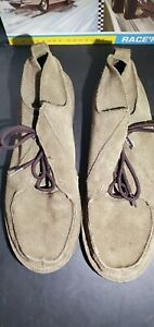 TEVA Mush Atoll Suede Leather Moccasin Chukka Boots Men's 12 Olive Green Shoes