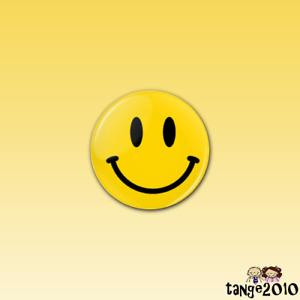 SMILEY FACE - 25mm button badge - Retro Rave House Happy Emoji