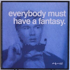 """Andy Warhol Art Pop Fantasy Quote framed in hardwood 10.25"""" x 10.25"""""""