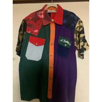 A BATHING APE BAPE Crazy Pattern Shirt Size M Camo Rare