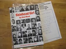 Skinhead Girl by Alan Mead *rare original photo book*