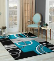 Golden Rugs Area Rug 5x7 8x10 2x7 Geometric Modern Contemporary Turquoise Red