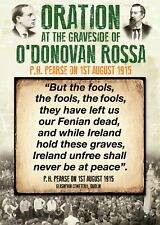 Exclusive A4 Poster - P. H. Pearse Oration at the Graveside of O'Donovan Rossa