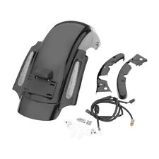 Black CVO Style Rear Fender System W/ LED For Harley Touring Road King 2009-2013