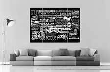 DJ MESA DE MEZCLAS Wall Arte Cartel Grande formato A0 Largo Print