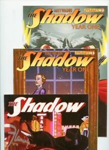 The Shadow Year One #1, #1D, and annual 2013 Dynamite Lot of 3 Comics